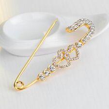 New Love Heart Rhinestone/Diamante Scarf/Hijab/Shawl Safety Pins/Brooches