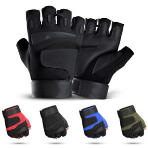 Half Finger Rubber Hard Knuckle Gloves Fit for Outdoors Exercise Climbing Racing
