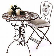 mesa con 2 Sillas Set Estilo Colonial Hierro Forjado Tecla Juego de Jardín
