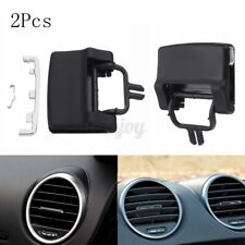 For Mercedes W164 X164 ML GL A/C Air Vent Outlet Tab Clip Repair Kit 2Pcs Black