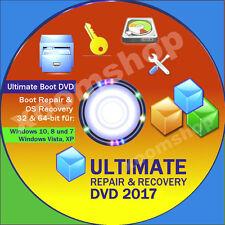 █ Repair & Recovery CD 2017 für Windows 10 + Windows 7 Datenrettung Notfall Disc