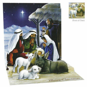 3D Pop Up Greeting Card from Up With Paper - HOLY NIGHT - UP-WP-X-1355