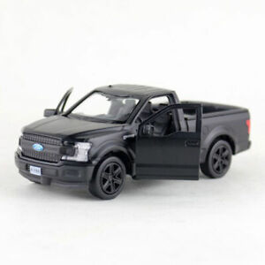 1:36 Ford F-150 Pickup Truck Model Diecast Toy Vehicle Pull Back Matte Black