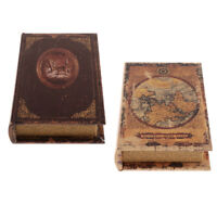 2PCS Home props book Ornament Faux Book Storage BOX for Study Room Decor