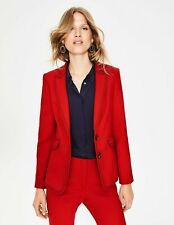 NWT Boden Poinsettia Red Polka Dot lined Winsford Blazer Jacket UK 12 US 8 NICE