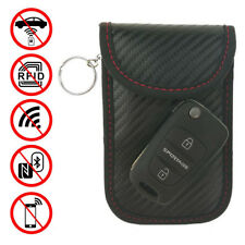 2xCarbonFiber RFID Car Key FOB Signal Blocker Pouch Bag Credit DebitCard Protect