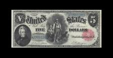 """1880 United States Note *Legal Tender* $5 """"X-Rare"""" ( Ef+ )"""