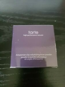 tarte Amazonian clay volumizing brow & hair powder (BLACK BROWN) FULL SIZE NEW