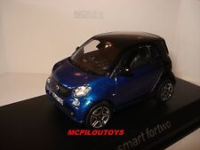NOREV SMART FORTWO BLACK & BLUE  2015 au 1/43°