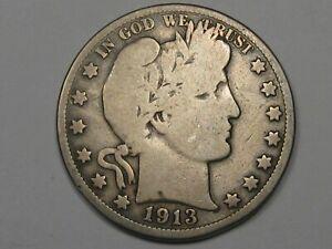 Semi-Key 1913 US Barber Half Dollar. #26
