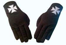 masonic regalia-Masonic Knights Of Malta Black 100% Cotton Embroidered gloves