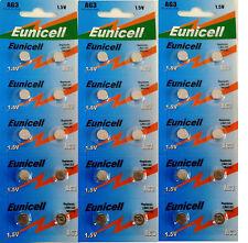 ENVOI AVEC SUIVI - EUNICELL - 30 Piles Bouton  AG3 / 392 / LR41 / SR41SW