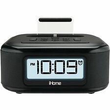 iHome iPL23 Stereo FM Clock Radio w/ Lightning Dock Charge/Play for iPhone [LN]™