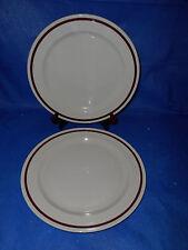6 ONEIDA Classic Dinner Plates 9503F Brown Stripe