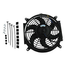 "10"" inch Universal Slim Electric Radiator Cooling Fan Push/Pull 12V 80W Mounting"