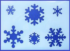 Flexible Stencil *SNOWFLAKES* Christmas Crafts Card Making 14cm x 19.5cm