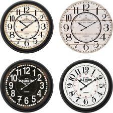 Reloj de Pared Madera Analogico Vintage Estacion Londres,segundero,Diametro 60cm