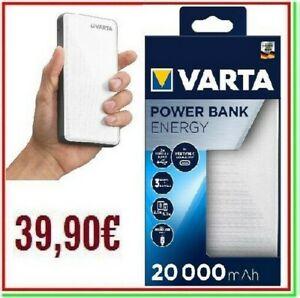 power bank VARTA 20000mAh carica batteria esterna portatile powerbank