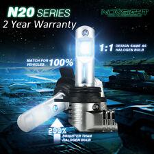 NOVSIGHT 9012 HIR2 LED Headlight Bulbs Kit 50W 10000LM Fog Lamps Replace Halogen