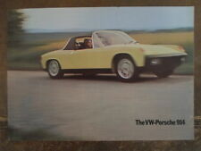 VOLKSWAGEN PORSCHE 914 orig 1974 UK Mkt Sales Brochure - VW