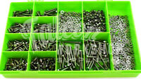 1000 PIECE A2 STAINLESS STEEL M4 HEX SET FULL THREAD BOLT NYLOC NUT WASHER KIT