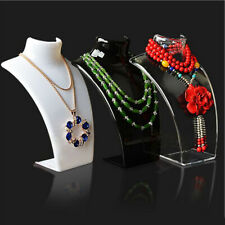JW_ AG_ Mannequin Jewelry Necklace Display Stand Pendant Holder Neck Model Sho