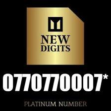 UNIQUE EXCLUSIVE RARE GOLD EASY VIP MOBILE PHONE NUMBER SIM CARD > 007