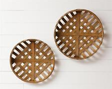 Set 2 Hanging Tobacco Baskets