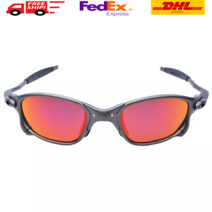 X-Metal Juliet Cycling Sunglasses Ruby Polarized Glass titanium Goggles UV400