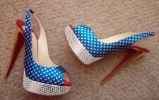 $800 Christian Louboutin multi coloured heels platforms 39 UK 6 used once