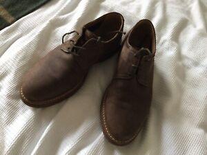 Clarks Men's Nubuck Leather Shoes Size 8.5