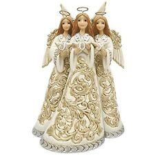 Enesco Jim Shore Heartwood Creek Holiday Lustre Trio of Angels Angel Figurine