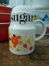 Vintage Crown Devon Mary Quant Orange Carnaby Sugar Shaker Dredger 1960's