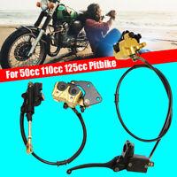 Front+Rear 12mm Hydraulic Brake Caliper Cylinder For 50cc 110cc 125cc Pit Bike