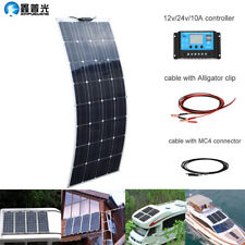 100W 16V Flexible Solar Panel Kit Charging Marine Caravan Charger 10A Controller