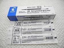 6pcs refill for Pilot Hi-tecpoint V5 RT roller ball pen ONLY REFILL Black(Japan