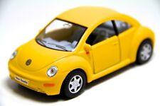 "5"" Kinsmart New VW Volkswagen Beetle Diecast Model Toy Car 1:32 Yellow"