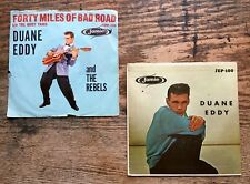 Wholesale LOT of 2 DUANE EDDY 45 RPM 1960 w/ Picture Sleeves JAMIE 100 1126 VTG