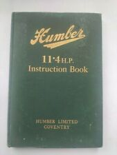 Humber  11.4 HP. Instruction Book  1923