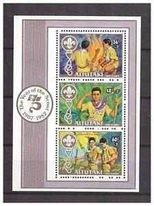 S14405) Aitutaki 1983 MNH Scout S/S