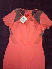 MINTY MEETS MUNT Womens Dress NEW 10 BNWT Medium Mesh Peach $139 Mesh Hot Party