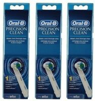 3 Pack Oral-B Precision Clean Power Toothbrush Refill Head, 1 Count Each