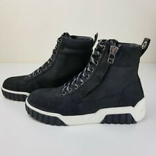 Diesel Women's Le S-RUA Mc W Sneaker Sz 8.5 Black White Shoes Boots Hi-Top