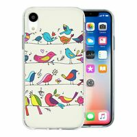 For Apple iPhone XR Silicone Case Birds Pattern - S3030
