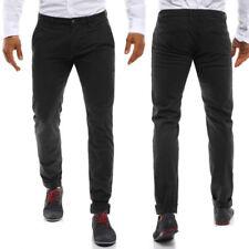 Pantaloni da uomo neri slim , Taglia 34