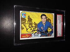 Jim Neilson Signed 1968-69 Topps Card New York Rangers SGC Slabbed #AU381463