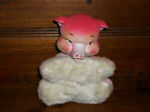Vintage Gund Rubber Face Plush Stuffed Animal Pig Baby Doll Cute & Clean No Tag