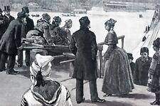 Fleetwood Park 1888 TOBOGGANING SURREY BRITISH COLUMBIA Matted Art Print