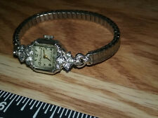 Vintage Lady Lucerne Diamond Woman's Ladies Wind Up Watch Working Perfect