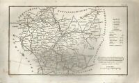 A vintage map of Leicestershire